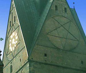 Kirche mit Pentagram