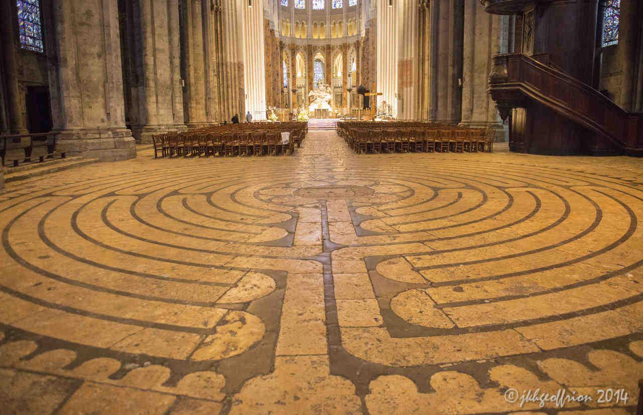 labyrint van de Chartres kathedraal