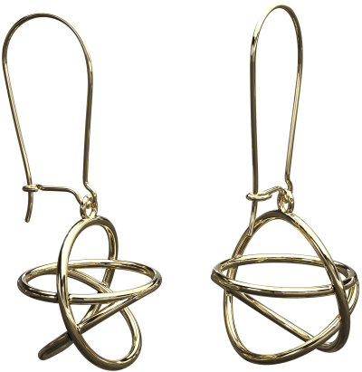 Akaija Earrings 8ct Yellow Gold