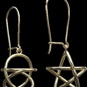 Akaija Earrings 8ct Yellow Gold