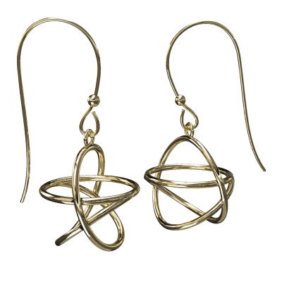 Akaija Earrings 14ct Yellow Gold