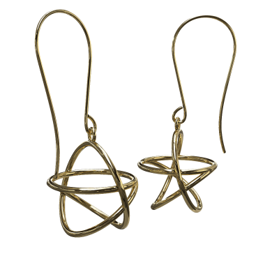 Akaija Earrings 18ct Yellow Gold