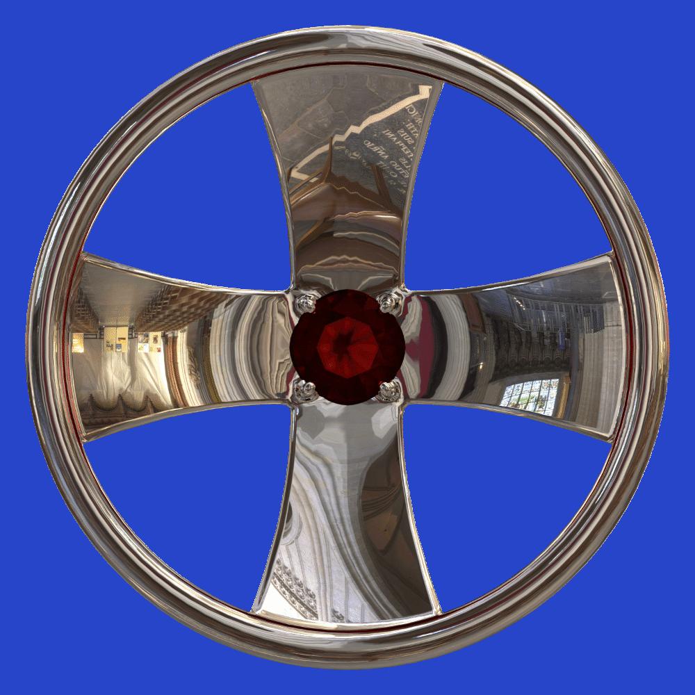 Две Дороги, серебро 925, гранат